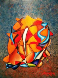 Caressing the gaze                     Oil on canvas (80cmX65cm)   Price 3900 E